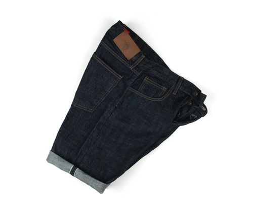 raw selvedge denim shorts