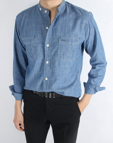 R. denim henry shirt