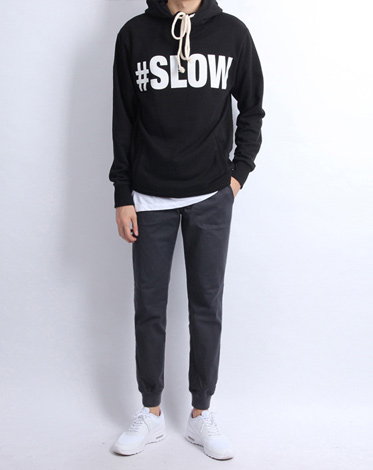#SLOW HOODY (2 color)