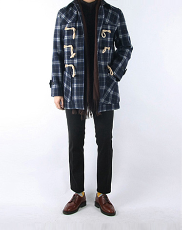 frame duffle coat (2 color)