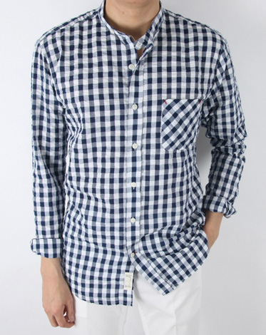 B. china check strap shirt (2 color)