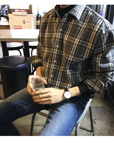 BBR. WOOL CHECK SHIRT (2 COLOR)