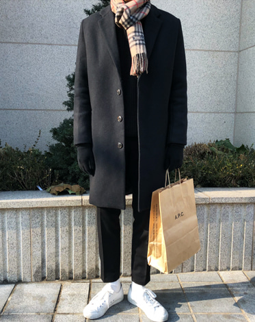 ANZ SINGLE BASIC OVER COAT (2 COLOR)  당일출고! (SALE)