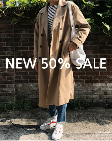 COTTON DOUBLE LONG TRENCH COAT